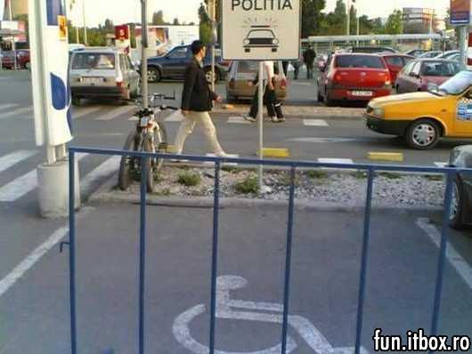 parcare pentru politisti